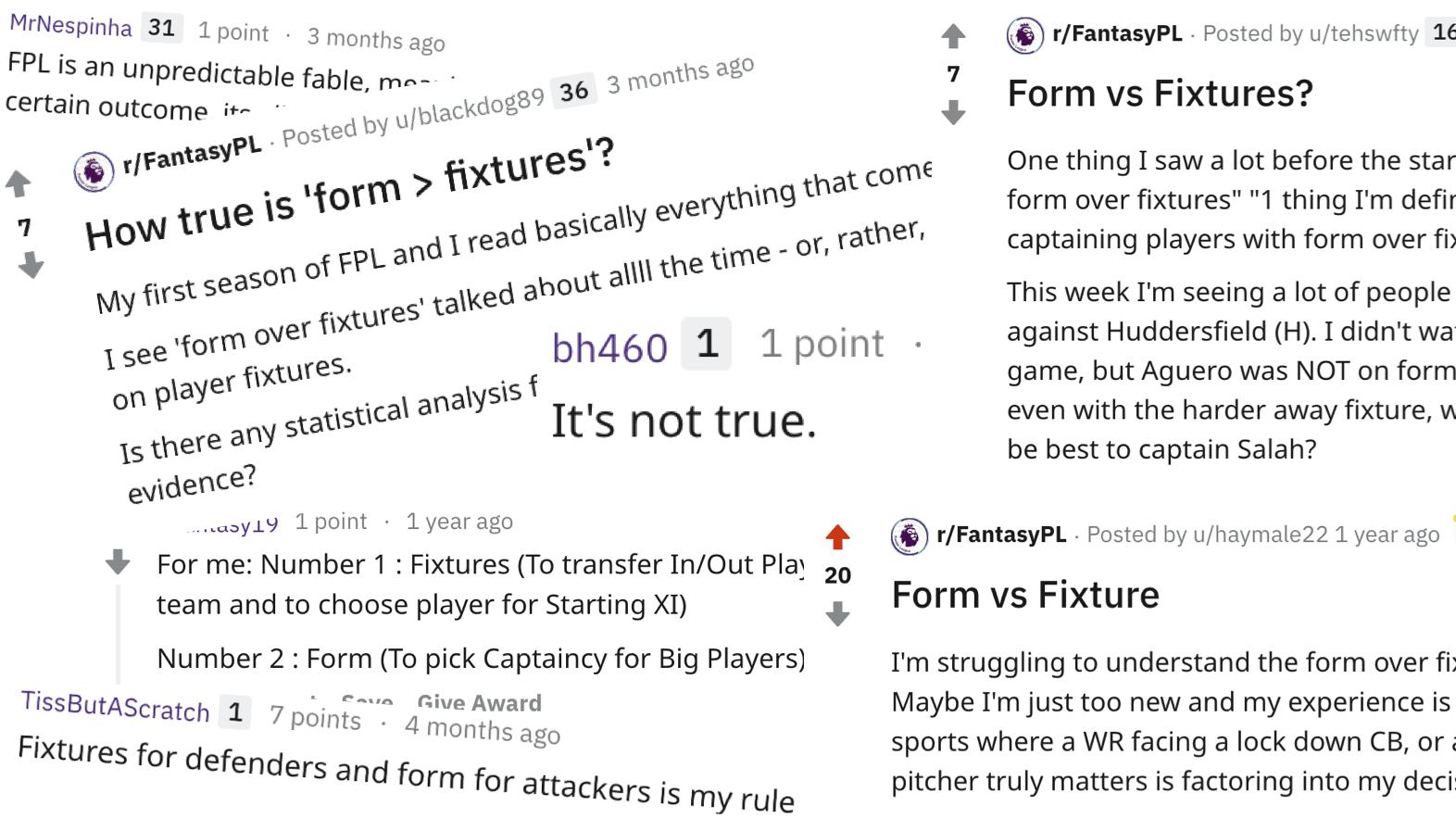 Mythbusting Fantasy Premier League: Form over fixture